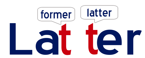 Latter, later vs latter, meaning of latter
