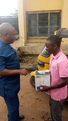 Owerri: This Keke Man Picked And Returned Recharge Cards Worth N80,000 – Gets Rewarded
