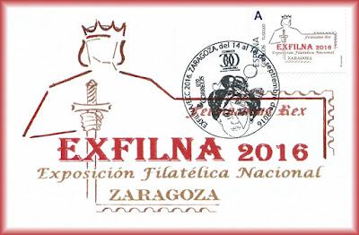 Tarjeta con tu sello y matasellos de la EXFILNA 2016