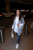 Neha Dhupia in Shirt Denim Spotted at Airport IMG 3530.JPG
