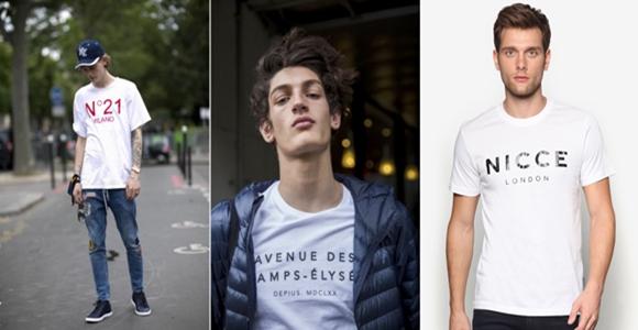 Baju Lelaki Terkini Logo Cotton T-Shirt