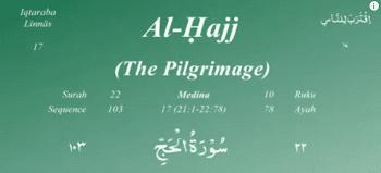 Surah Al Hajj termasuk kedalam golongan surat Surat | Surah Al Hajj Arab, Latin dan Terjemahan