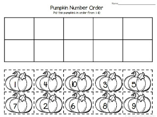 Pumpkin Number Order FREEBIE