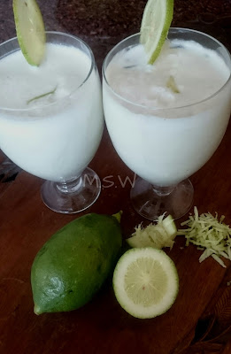 Buttermilk with Gondhoraj lemon