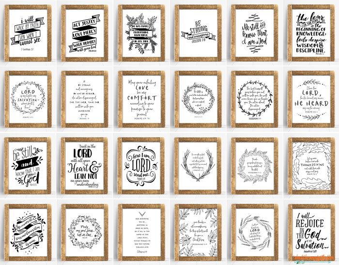 24 Scripture Printables for the Home