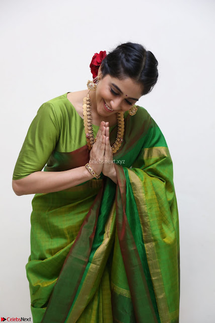 Regina Caasandra Looks Absolutely Gorgeous in Green Saree Choli At Sankarabharanam Awards 2017 ~  Exclusive 001.JPG