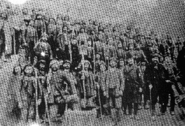 The Recognition of the genocides as the beginning of justice against the crimes against humanity and barbarity - Hellenes from Pontos in a Turkish labour battalion. Few survived.