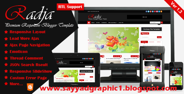 Radja  Responsive Blogger Template Free Download