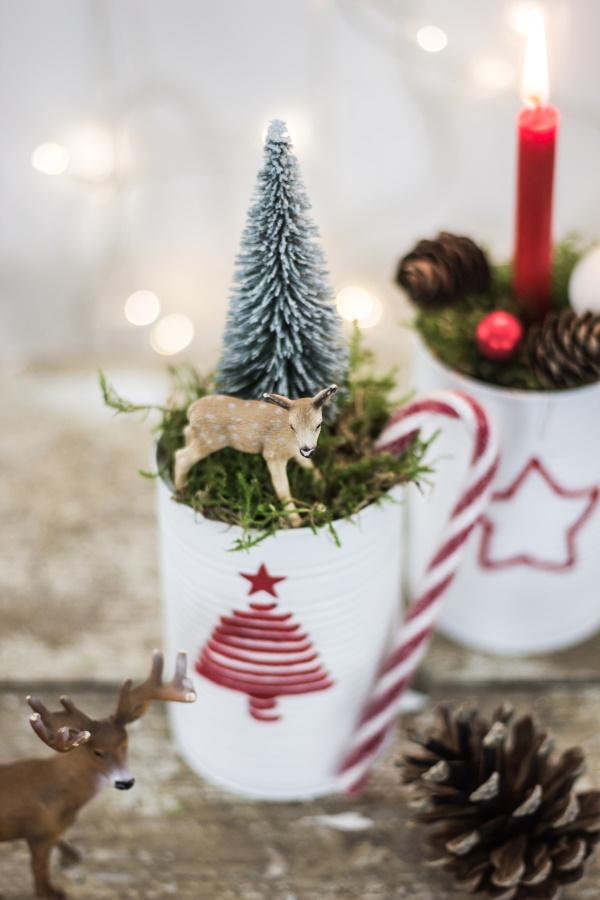 Advent, Advent mit süßem Reh: DIY Deko aus Dosen | by titatoni