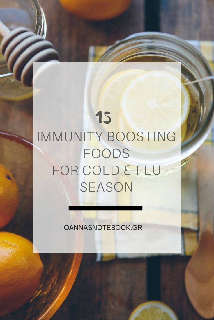 15 Foods that you already have in your kitchen that help you boost your immune system and fight flu | Ioanna's Notebook #food #wellness #immunesystembooster