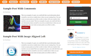 Chronicl Responsive Blogger Template