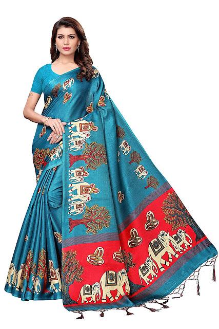 Mysore Silk Printed Kalamkari Sarees