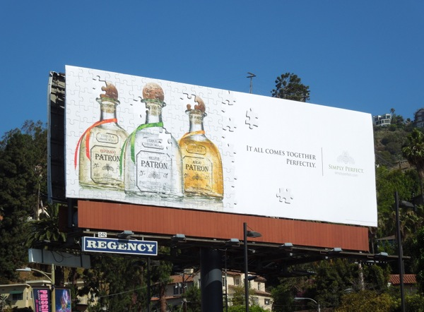 Patron Tequila It all comes together perfectly jigsaw billboard