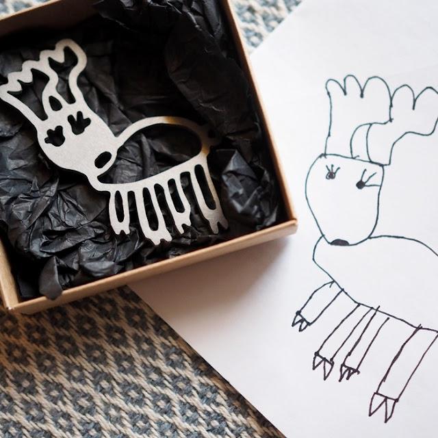 Huttaroo - koru lapsen piirustuksesta