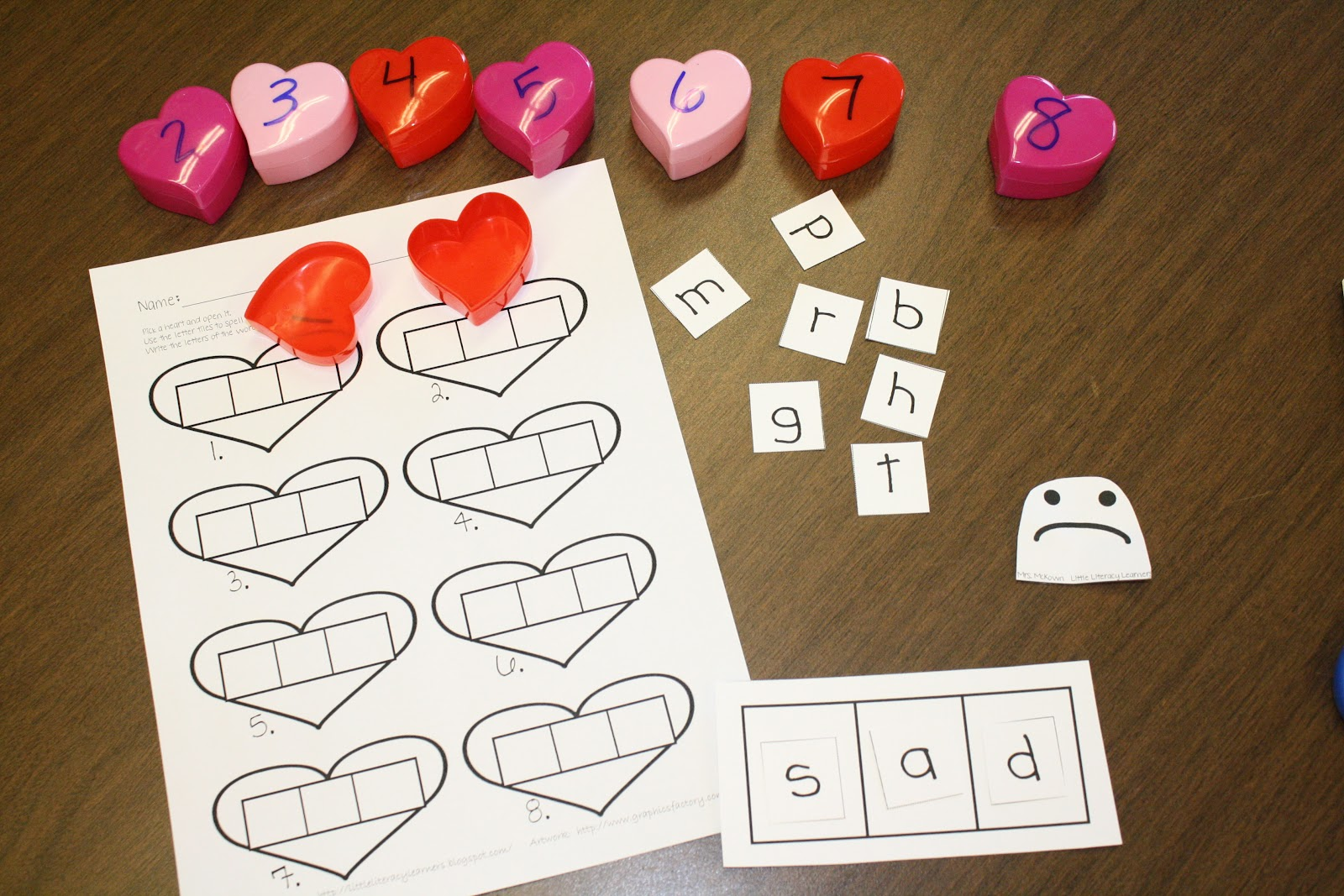 Little Literacy Learners Cvc Word Building With Pictures