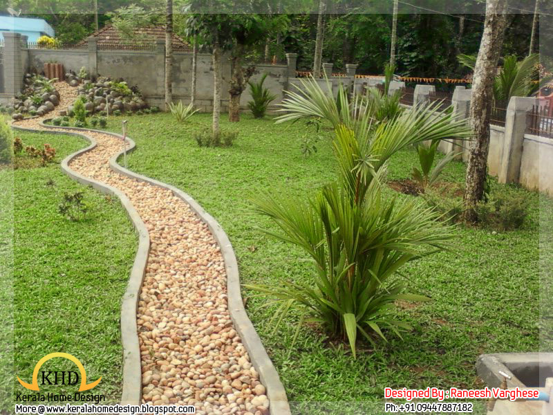 Landscaping design ideas kerala home design and floor plans for Garden design for house