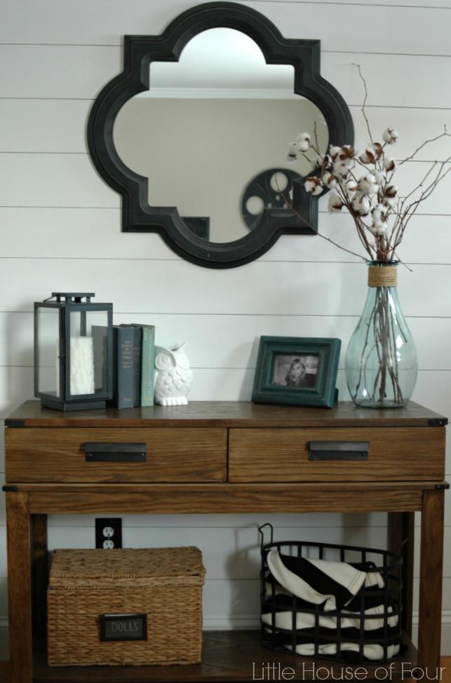 {Entryway Reveal} DIY Plank Wall Tutorial | Little House ...