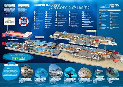 Mappa Acquario di Genova 2017