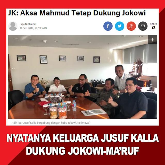 JK: Aksa Mahmud Tetap Dukung Jokowi