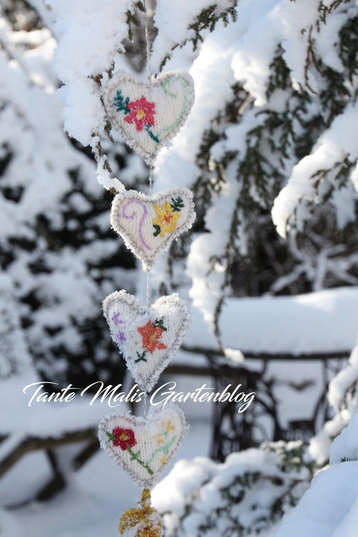 Winterdekoration Garten