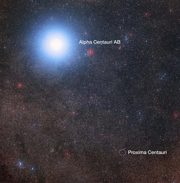 Proxima Centauri e Alpha Centauri