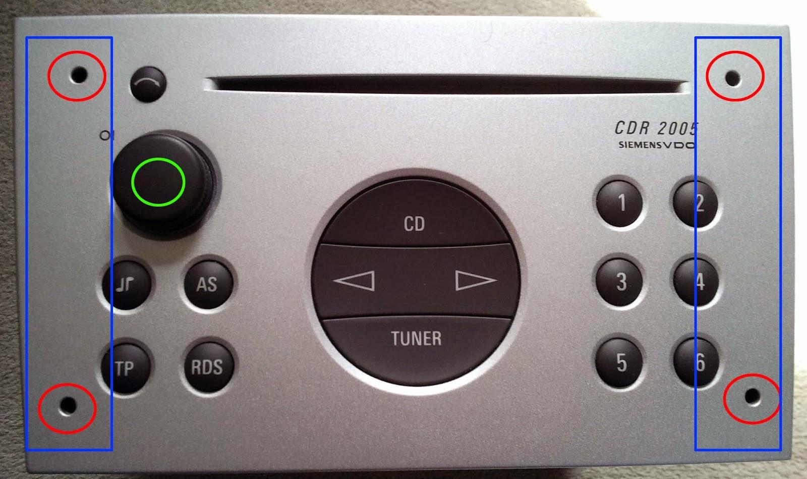 jb service: vdo cdr 2005 cd stereo in a 2003 opel corsa