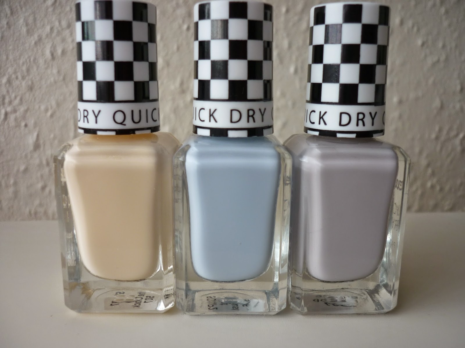Stop the Clock, Eat My Dust, Pit Stop, Barry M Speedy Nail polishes