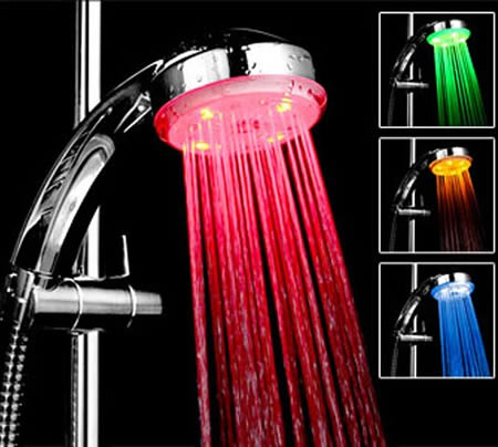 Colour Phasing Shower Light! Home Decor