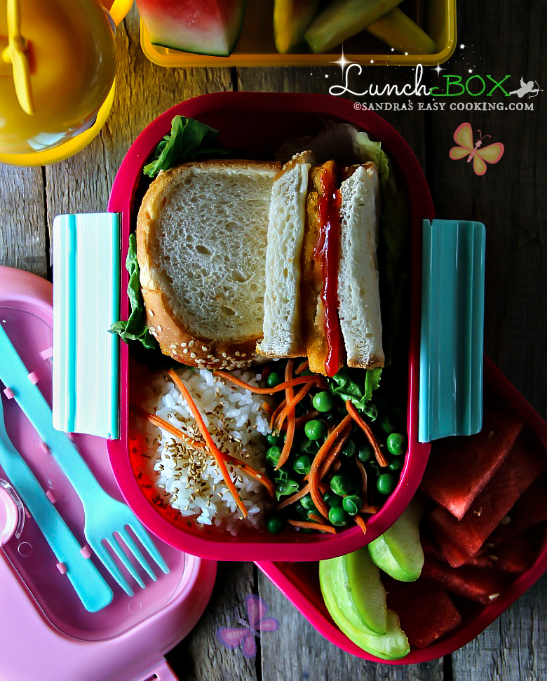 Lunch Box: Battered baked Fish Sandwich #lunchbox #schoollunch #fish #homemade