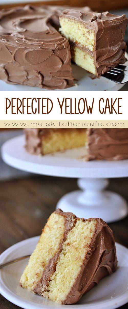 PERFECTED YELLOW CAKE #dessert #yellow #cake