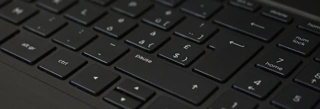 keyboard black notebook input 163130