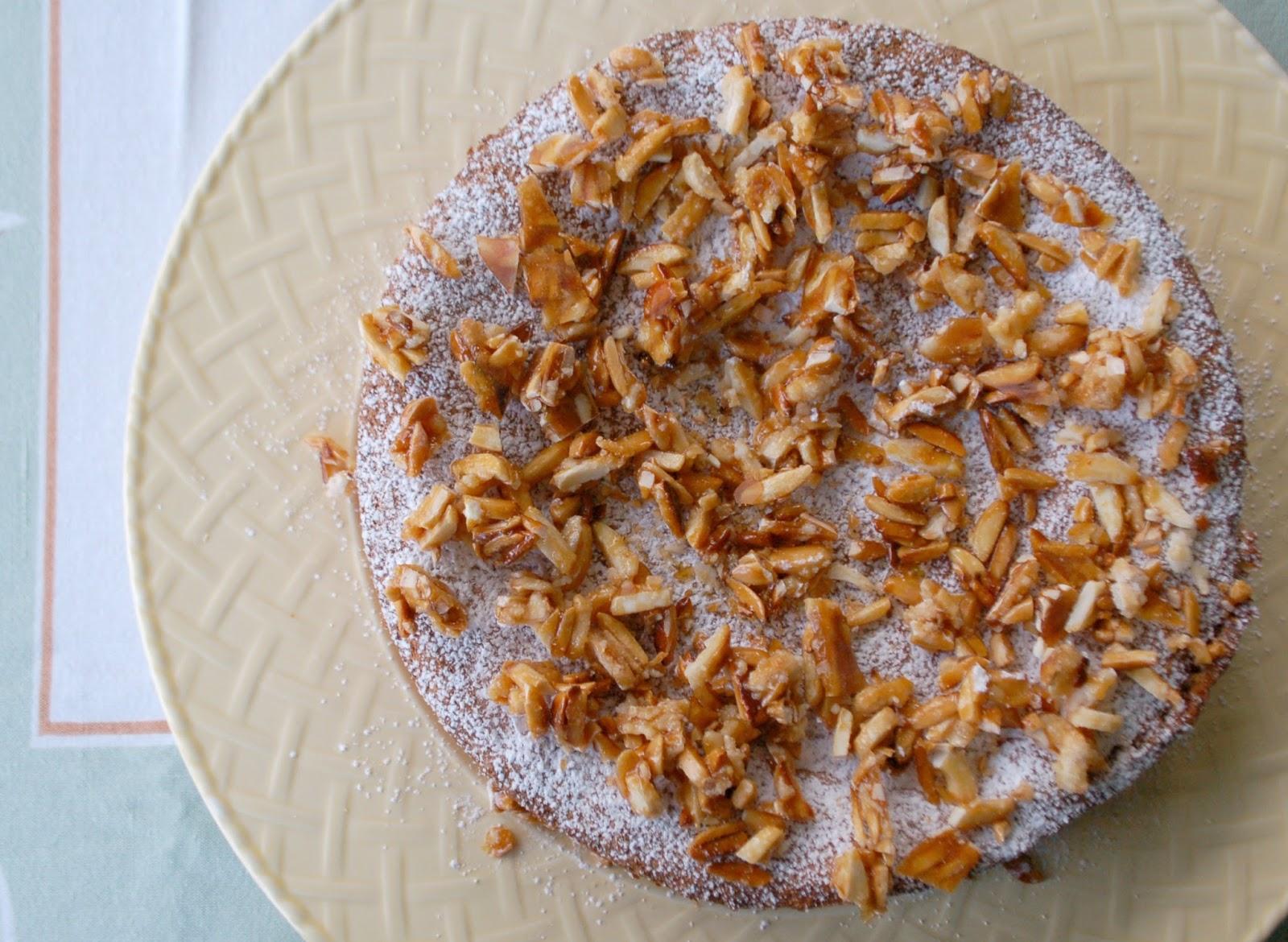 The Spice Garden: Citrus Almond Torte with Almond Brittle