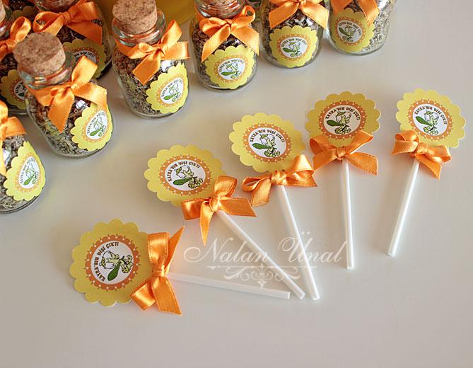 sarı turuncu temalı kutlama