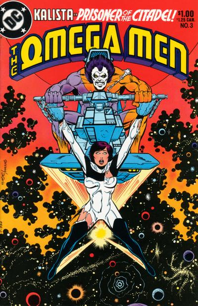 cover of the Omega Men #3 (1983). Property of DC comics.