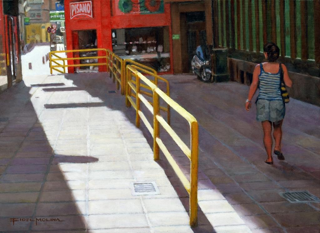10-Luz-de-agosto-en-Murcia-Fidel-Molina-Realistic-Paintings-of-Cities-Frozen-in-Time-www-designstack-co