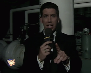 WWF / WWE SUMMERSLAM 1996 - Todd Pettengill interviewed Mankind in the boiler room
