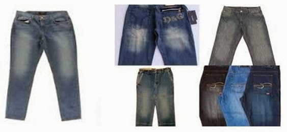 Sand Blasting effects on Jeans