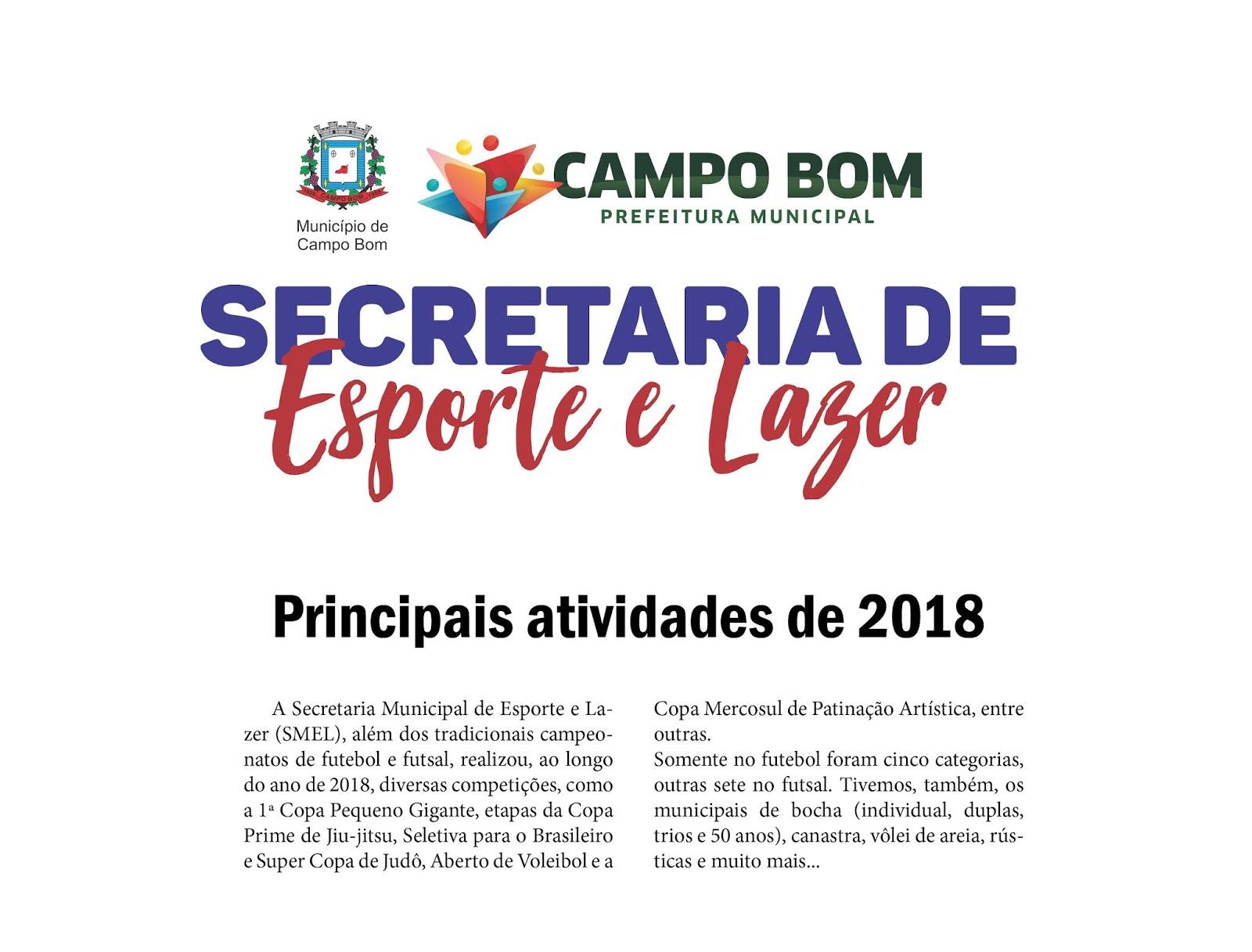 dc3eea83ea A Secretaria Municipal de Esporte e Lazer (SMEL)