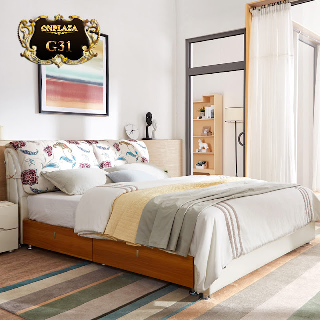 Giường ngủ bọc da G31
