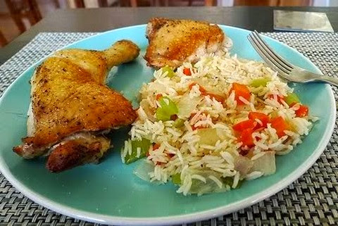Fried Chicken and Veggie Rice