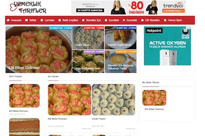 Blogger Yemek Tarifleri Teması Sitesi