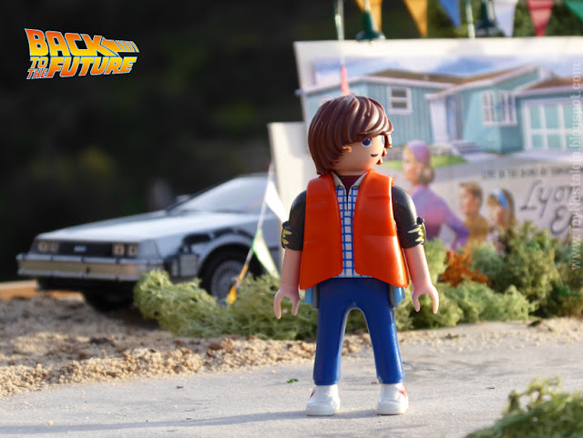 Playmobil Regreso al Futuro Lyon Estates diorama