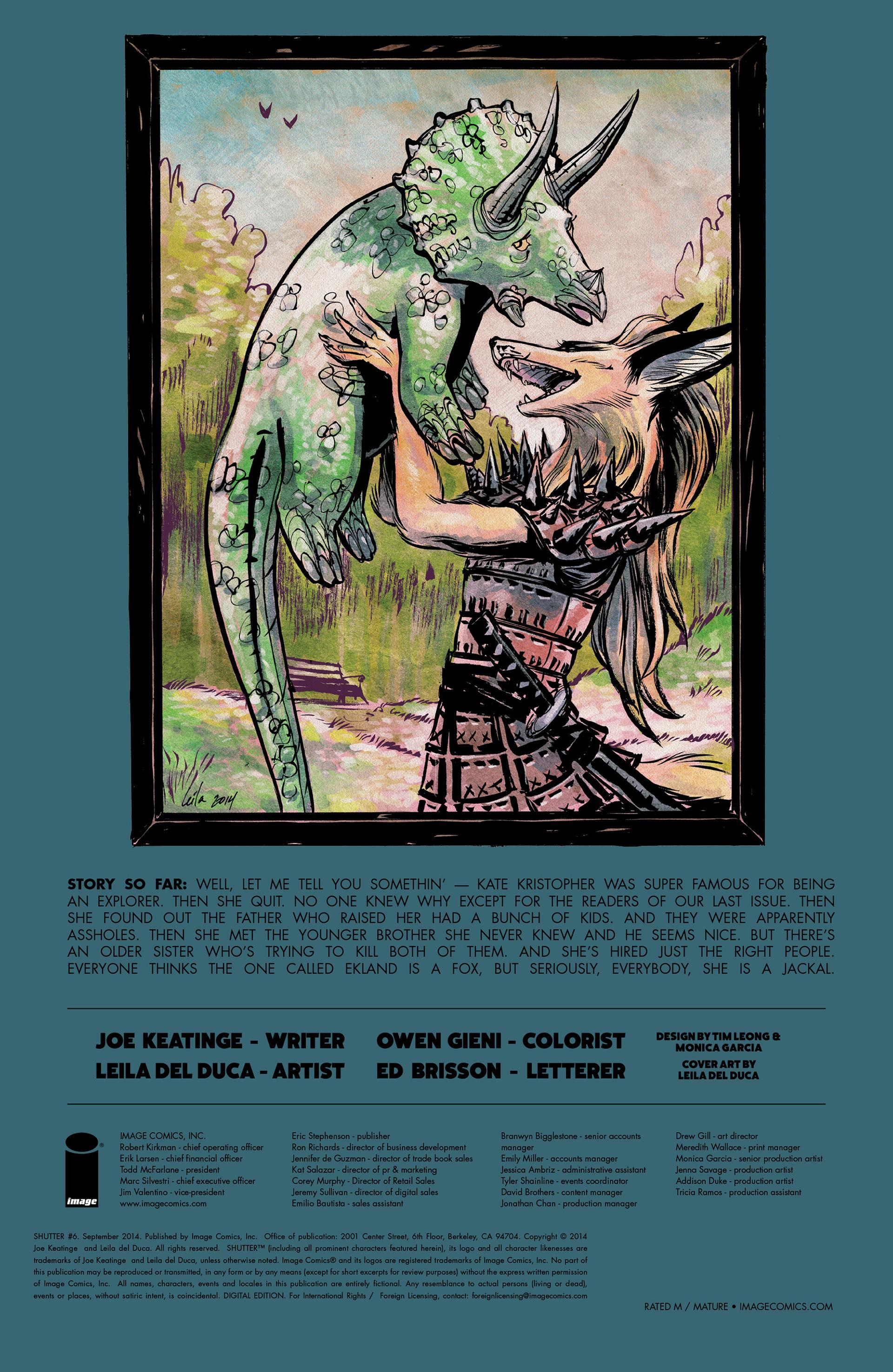 Read online Shutter comic -  Issue #6 - 30
