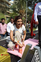 Bollywood Actress Shilpa Shetty Pos at Yoga Posed Statue Inauguration .COM 0011.jpg