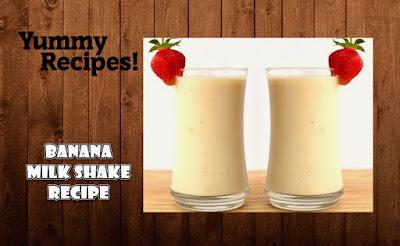 Banana Milk Shake Recipe - How to Make Banana Milkshake