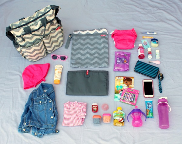 Packing a diaper bag for a toddler: These are all of the items I include. This website includes a free printable checklist so you won't forget anything.