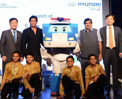 Shah Rukh Khan, Nitin Gadkari, Hyundai, Hyundai Motor India ltd, Safe Move - Traffic Safety Campaign