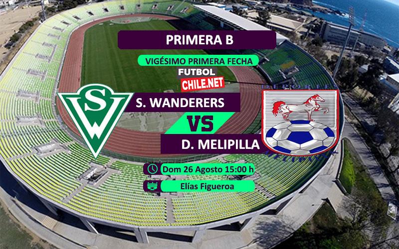 Mira Santiago Wanderers vs Deportes Melipilla en vivo y online por la Primera División Chile