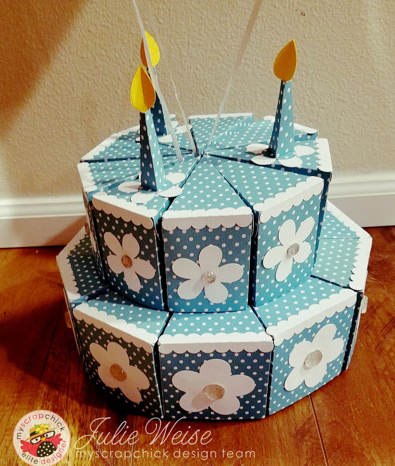 Ready Set Stamp 2 Tier Paper Birthday Cake