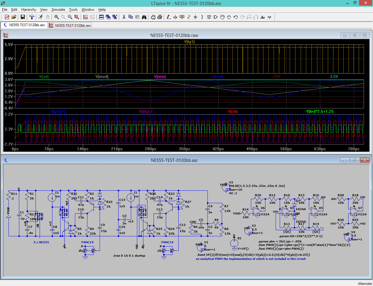 Chips Tech 2017 555 Timer Projects Solar Buck Converter Using Ne555 Project 31 Basically We Have Something Here That Resembles To A Pwm But The Circuit Has Several Shortcomings